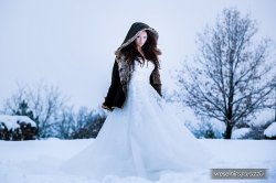 Panna Młoda, zimowa kreacja